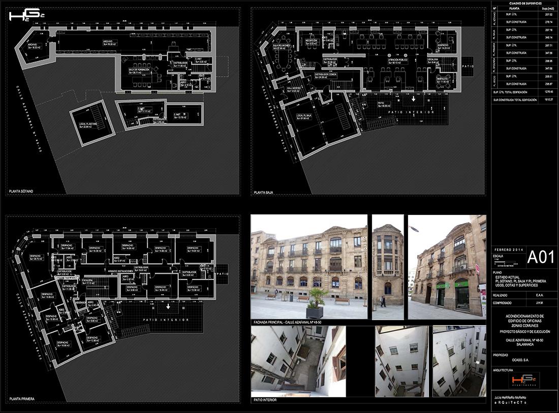 Rehabilitaci n edificio de oficinas en salamanca h2g2 for Oficinas ocaso